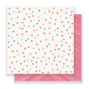 Carte Scrap Pois Colorati e Righe Rosa