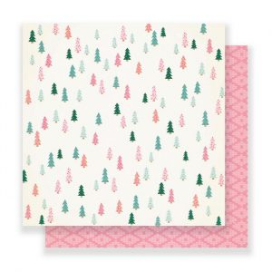 Carte Scrap Alberi Colorati e Fantasia Rosa
