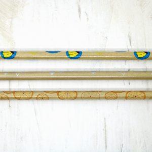 Penne Pencils Disegni Frutta e Stelle